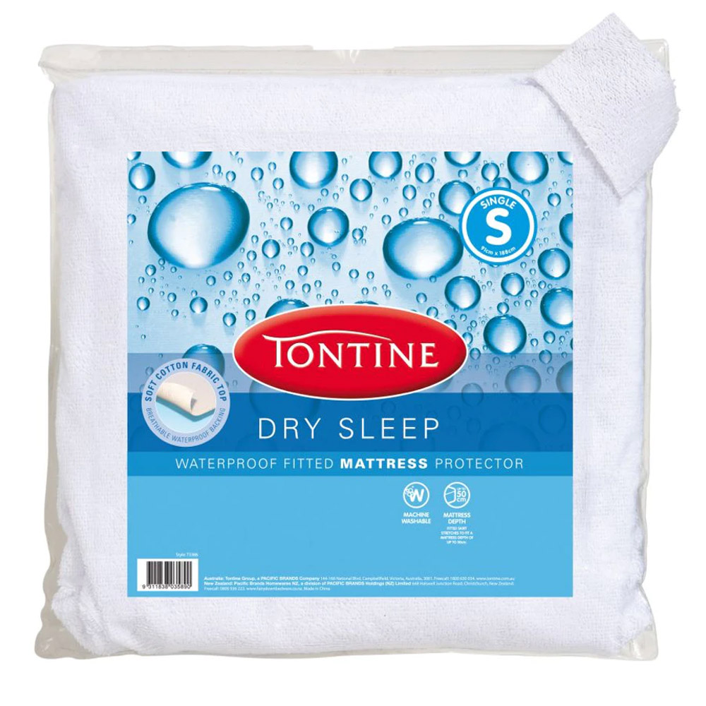 Tontine Dry Sleep Waterproof Mattress Protector
