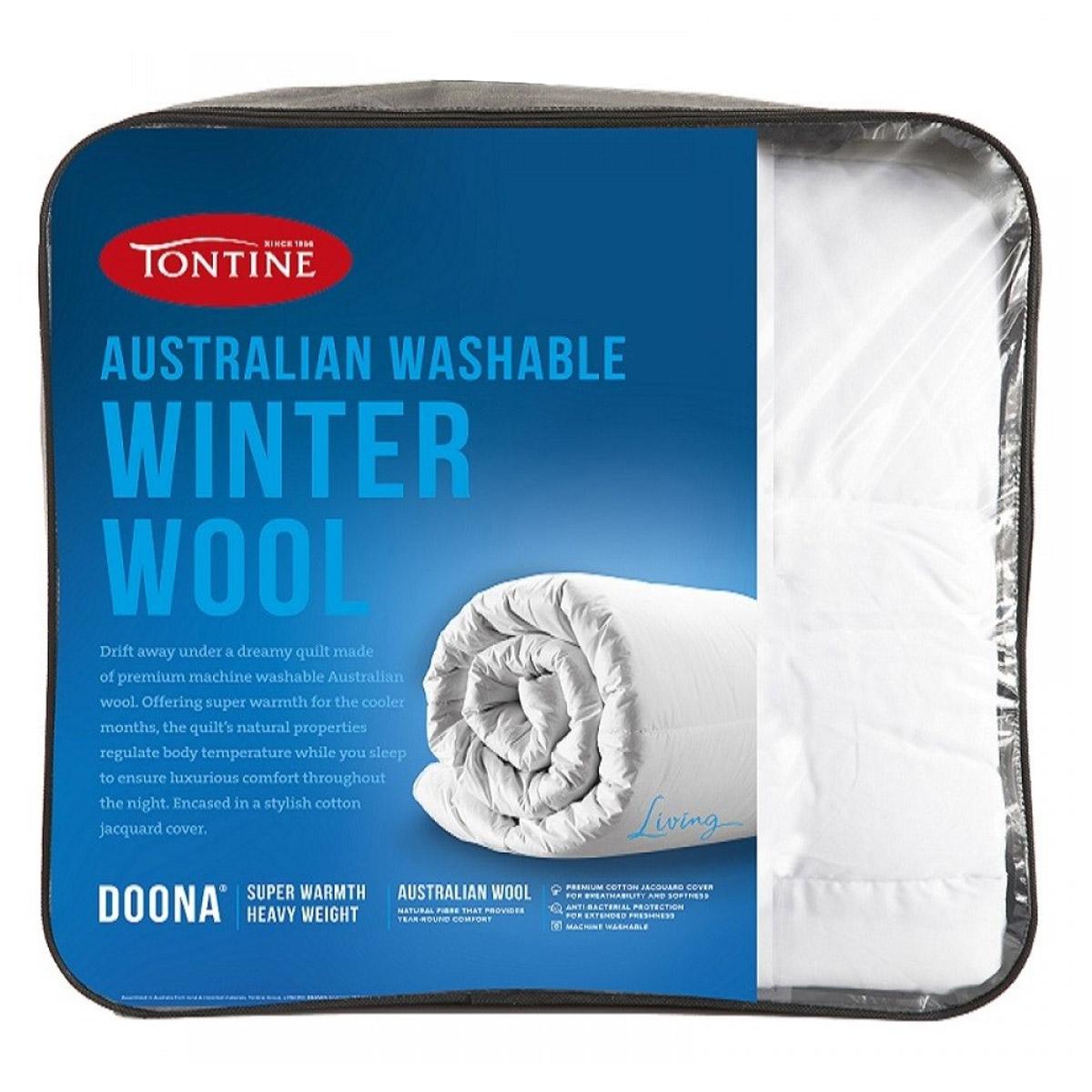 Tontine Washable Australian Winter Wool Doona 500gsm