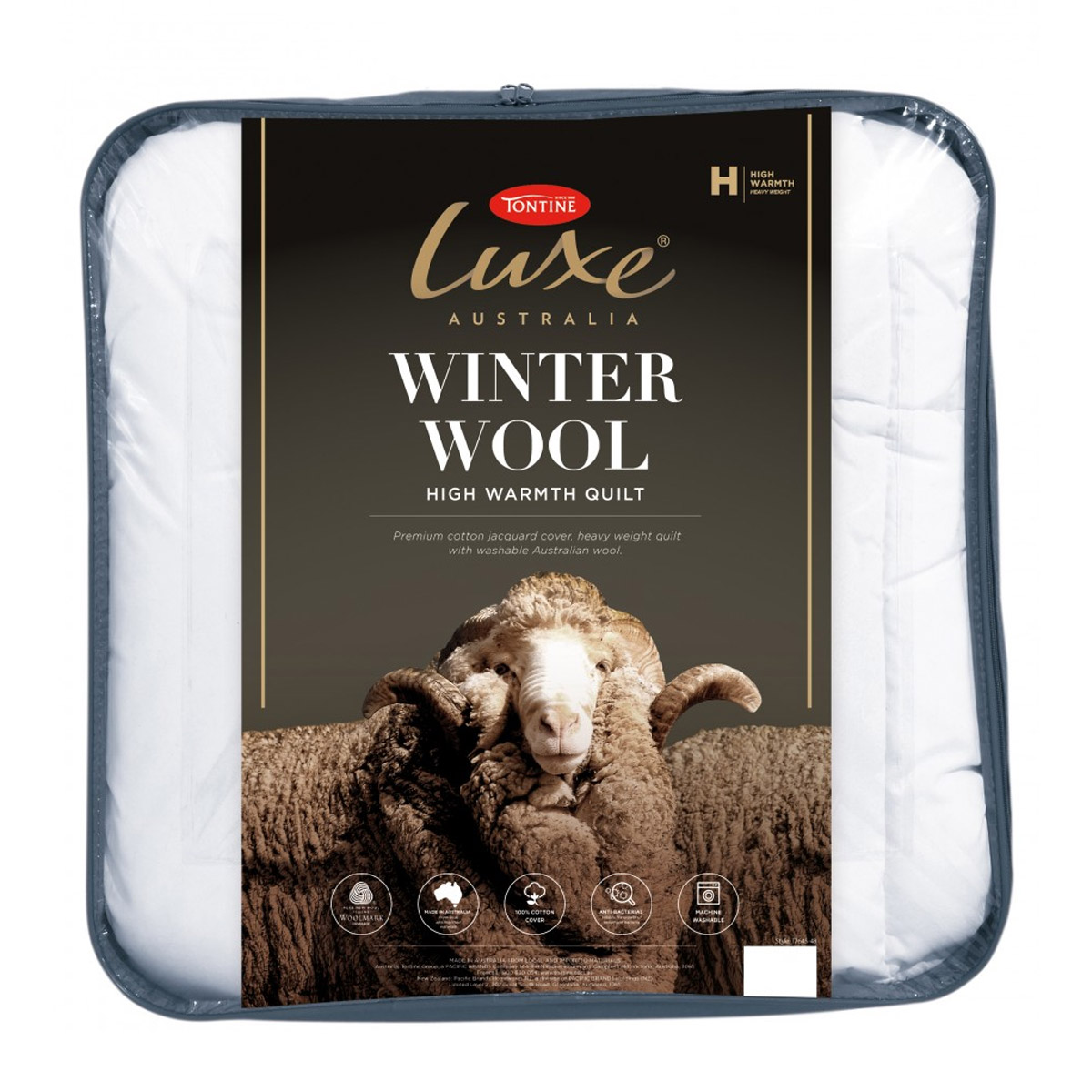 Tontine Luxe Australian Washable Winter Wool Quilt