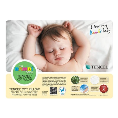 Bambi Baby Tencel Plant Fibre Cot Pillow New