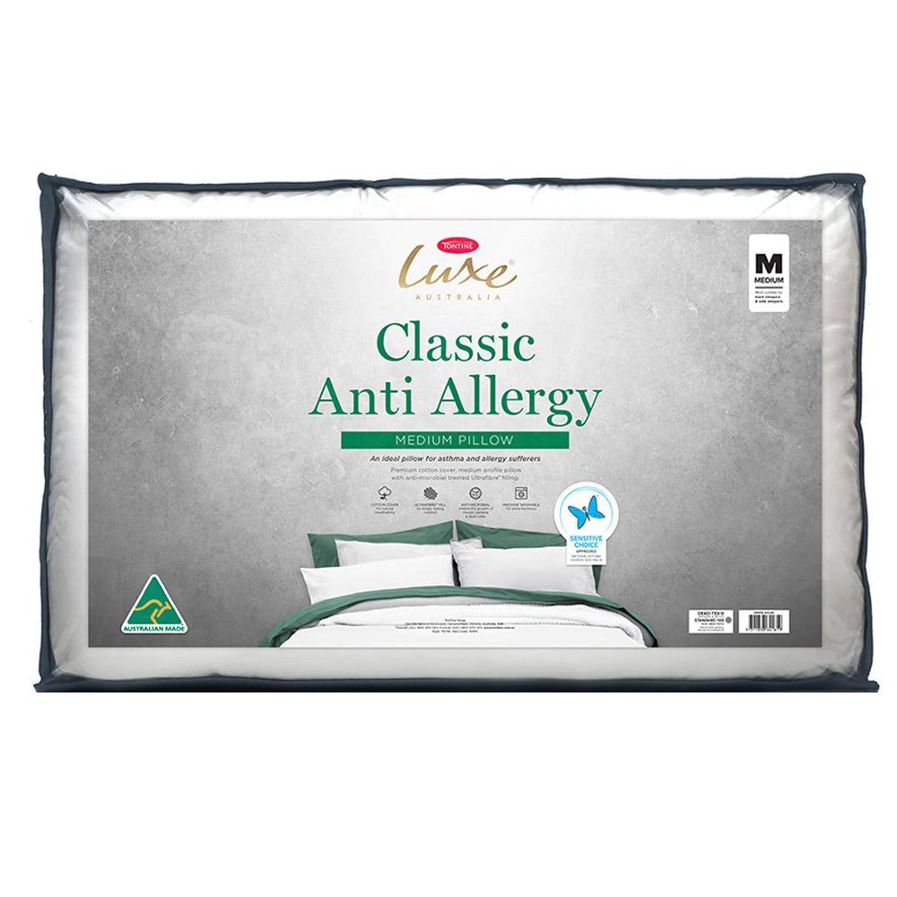 Tontine Luxe Classic Anti-Allergy Pillow Medium