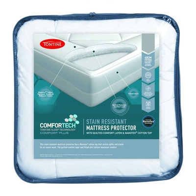 Tontine Comfortech Stain Resistant Waterproof Quilted Mattress Protector