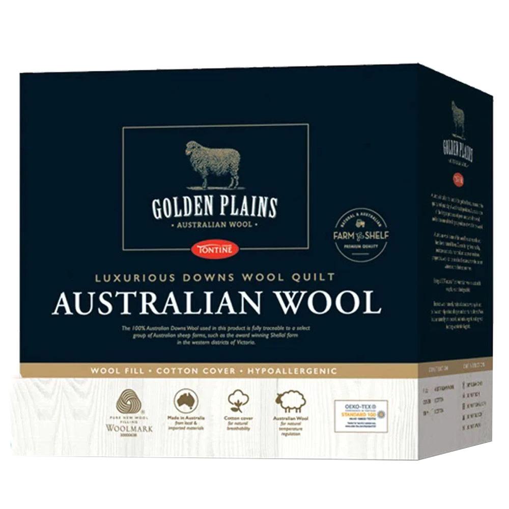 Tontine Golden Plains Luxurious Australian Made Wool Quilt