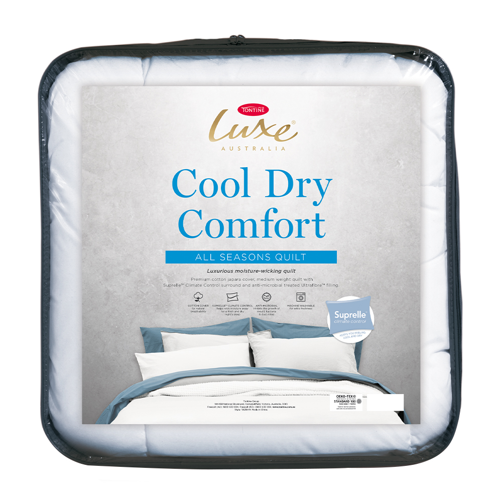 Tontine Luxe Cool Dry Comfort All Seasons Quilt