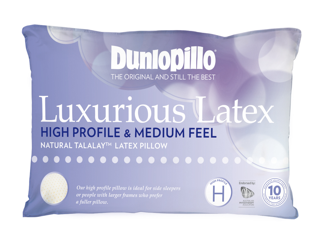 Dunlopillo Luxurious Latex Pillow High Profile and Medium Feel