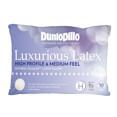 Dunlopillo Luxurious Latex Pillow High Profile and Medium Feel