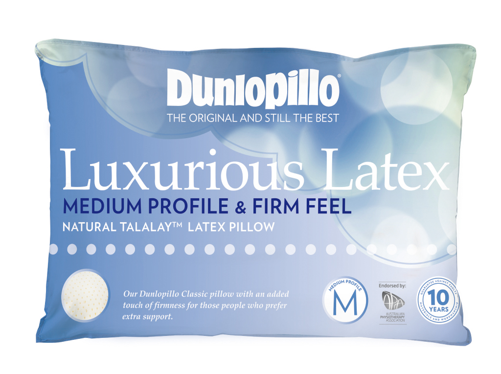 Dunlopillo Luxurious Latex Pillow Medium Profile and Firm Feel
