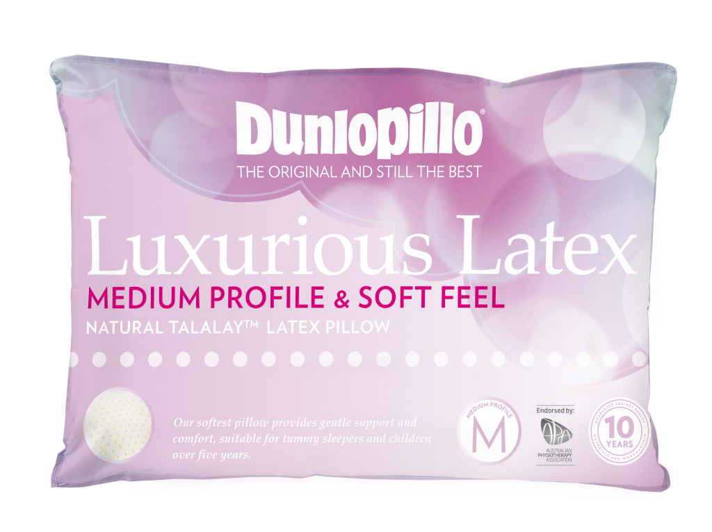 Dunlopillo Luxurious Latex Pillow Medium Profile and Soft Feel