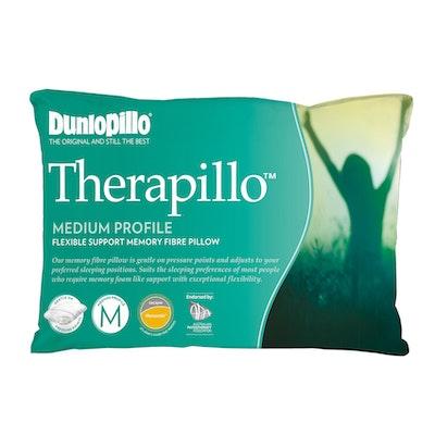 Dunlopillo Therapillo Flexible Support Memory Fibre Pillow Medium Profile