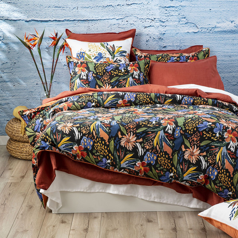 Renee Taylor Tropical 300 Thread Count Cotton Quilt Cover Set