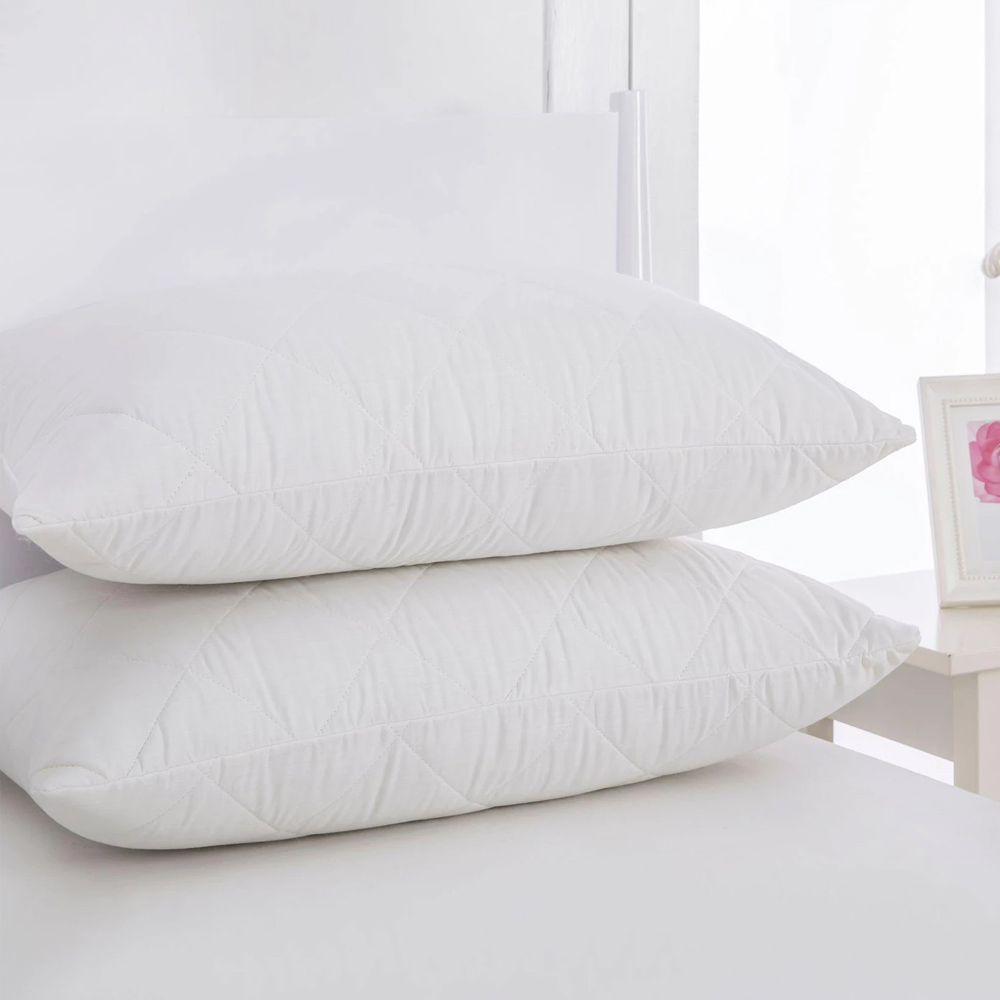 Cotton Cover Pillow Protector Protector Twin Pack