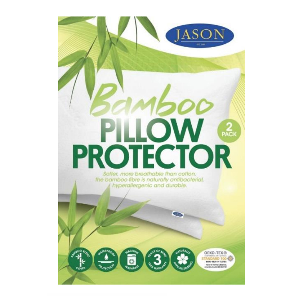 Jason Waterproof Bamboo Pillow Protector 2 Pack