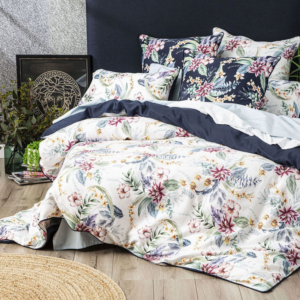 Renee Taylor Veronica 300 Thread Count Cotton Quilt Cover Set