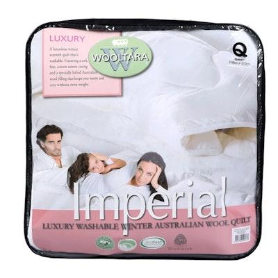 Wooltara Imperial Luxury Washable Winter Wool Quilt 450GSM Packaging