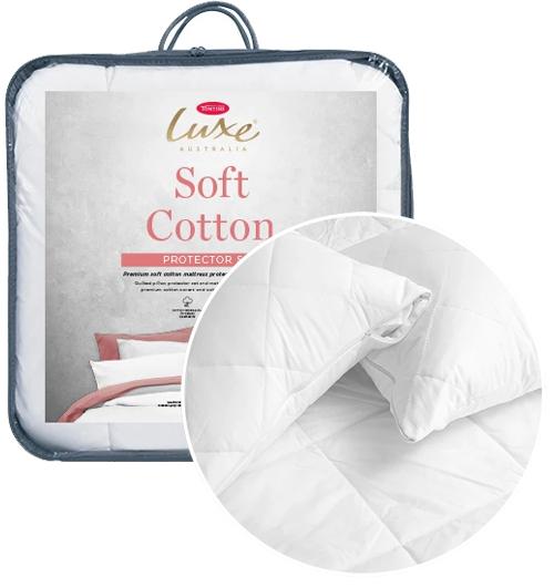 TONTINE Luxe Cotton Mattress /& Pillow Protector Set Single//Double//Queen//King